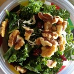 Sweet Kale Spinach Salad
