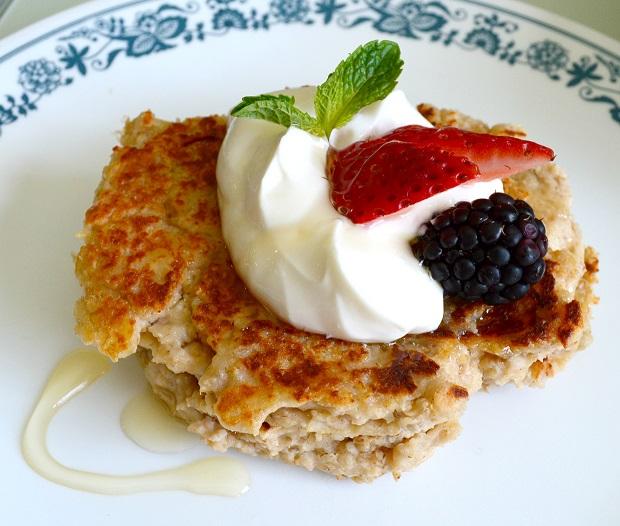 Oatmeal Yogurt Pancakes