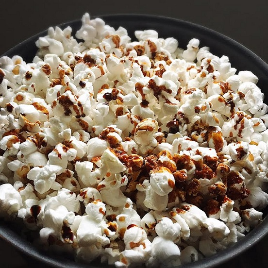 Dark Chocolate Balsamic Vinegar Popcorn