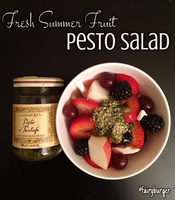 Fresh Summer Fruit Pesto Salad | @fairyburger