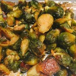 Chili Honey Roasted Brussels Sprouts | @fairyburger