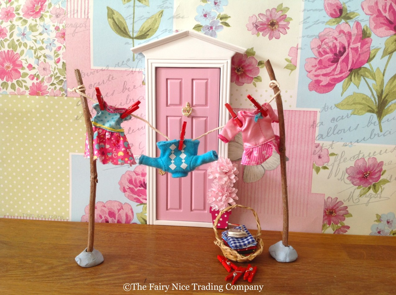 Fairy Washing line outside the Fairy Door at The Fairy Nice Trading Company