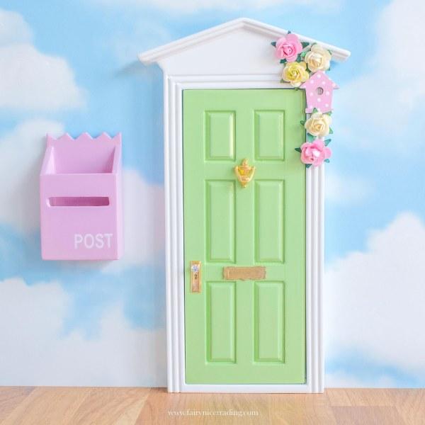 personalised fairy door in green uk