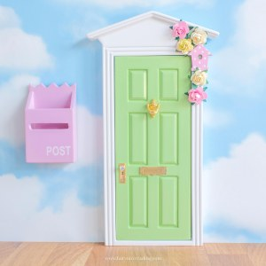 personalised fairy door in green uk