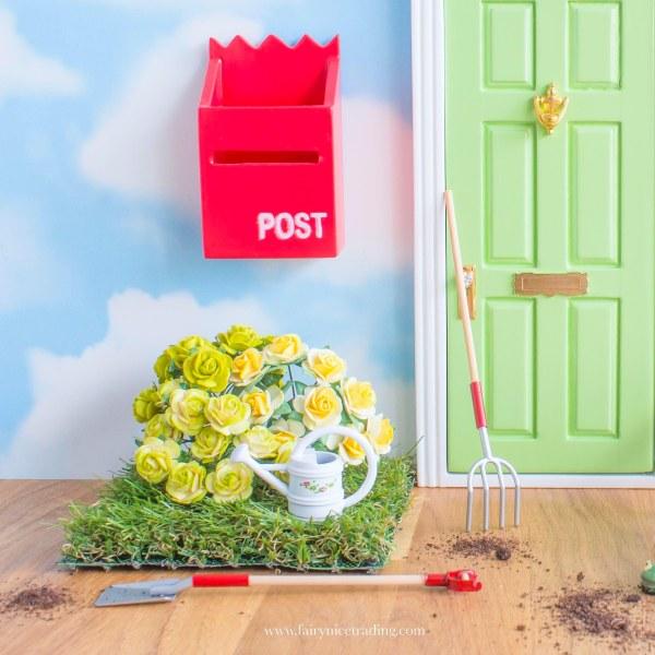 personalised green fairy door uk