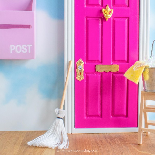 personalised bright pink fairy door uk