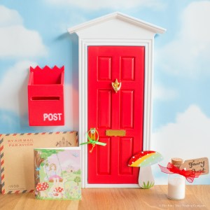 Red Fairy Door with Toadstool
