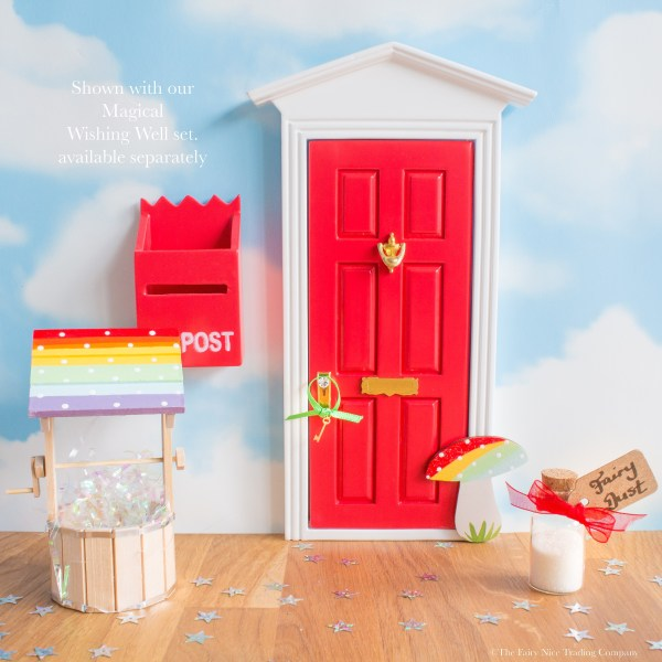 Red rainbow fairy door uk