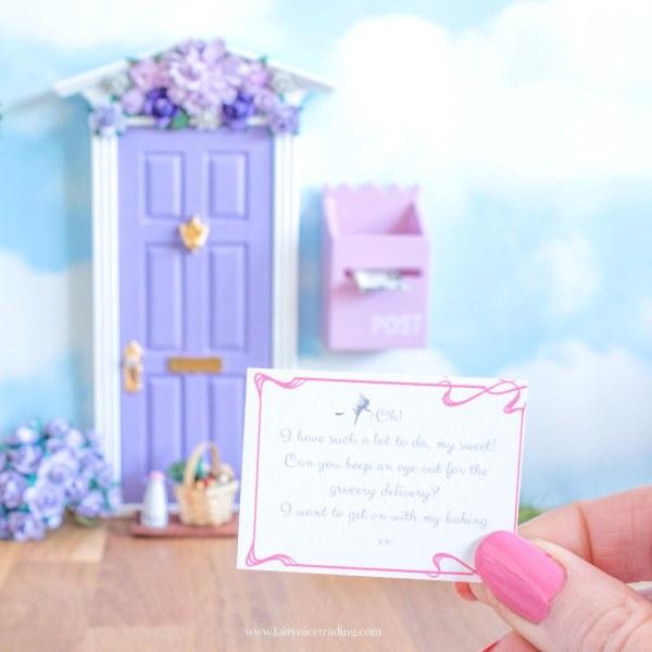 How to fairy door birthday printable fairy letter