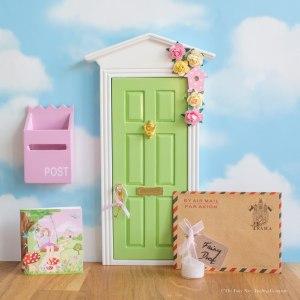 Personalised Fairy Door in green, UK
