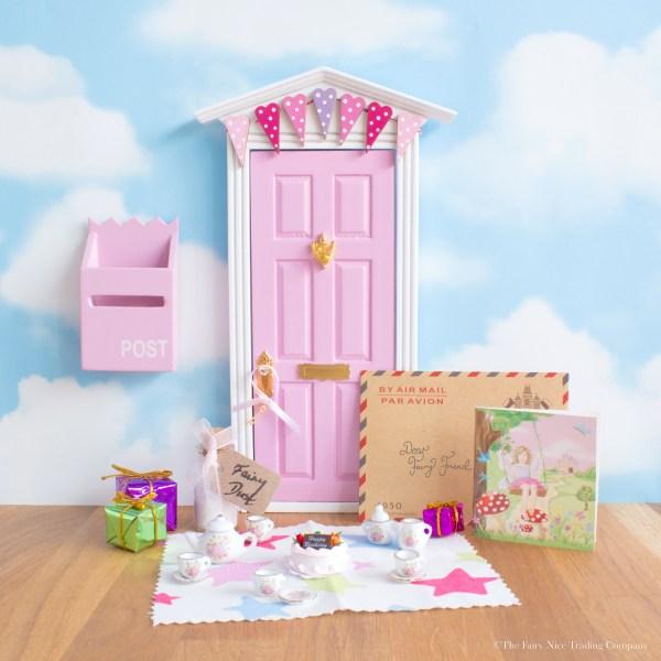personalised fairy door birthday set, UK