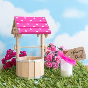 bright pink wishing well for fairy doors uk