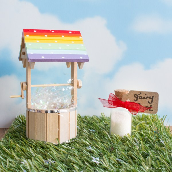 rainbow fairy wishing well for Fairy Doors uk
