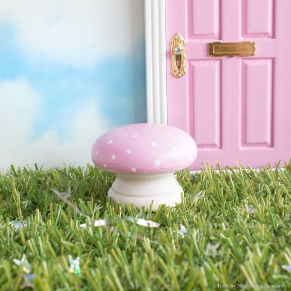Pink Fairy Toadstool personalised