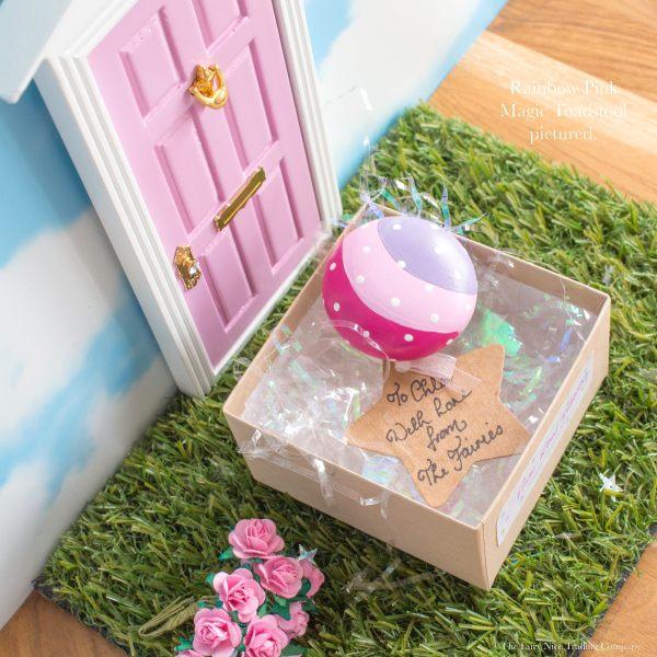 Pink Fairy Toadstool for Fairy Doors
