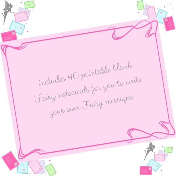 printable fairy notecards