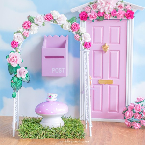 Fairy garden flower arch in pink uk