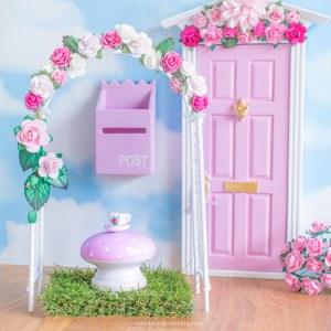 Fairy garden flower arch in pink uk