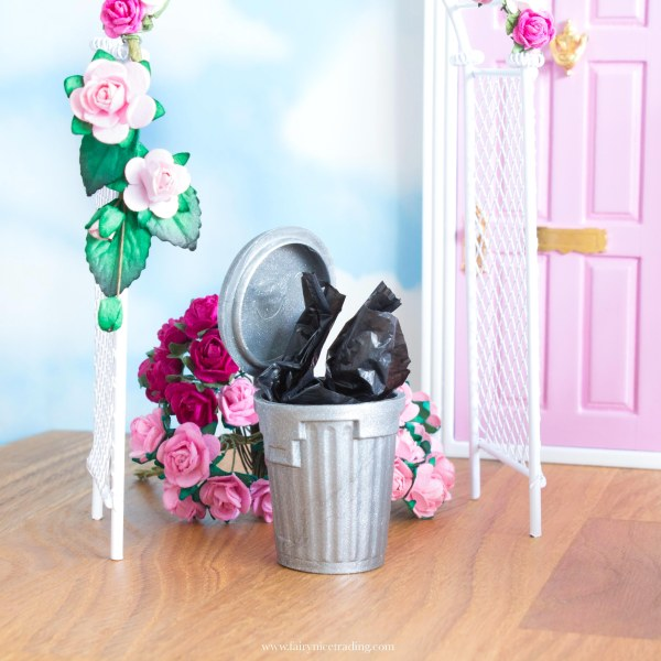 miniature dustbin for Fairy doors uk