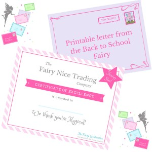 Back to School Fairy Letter & Certificate