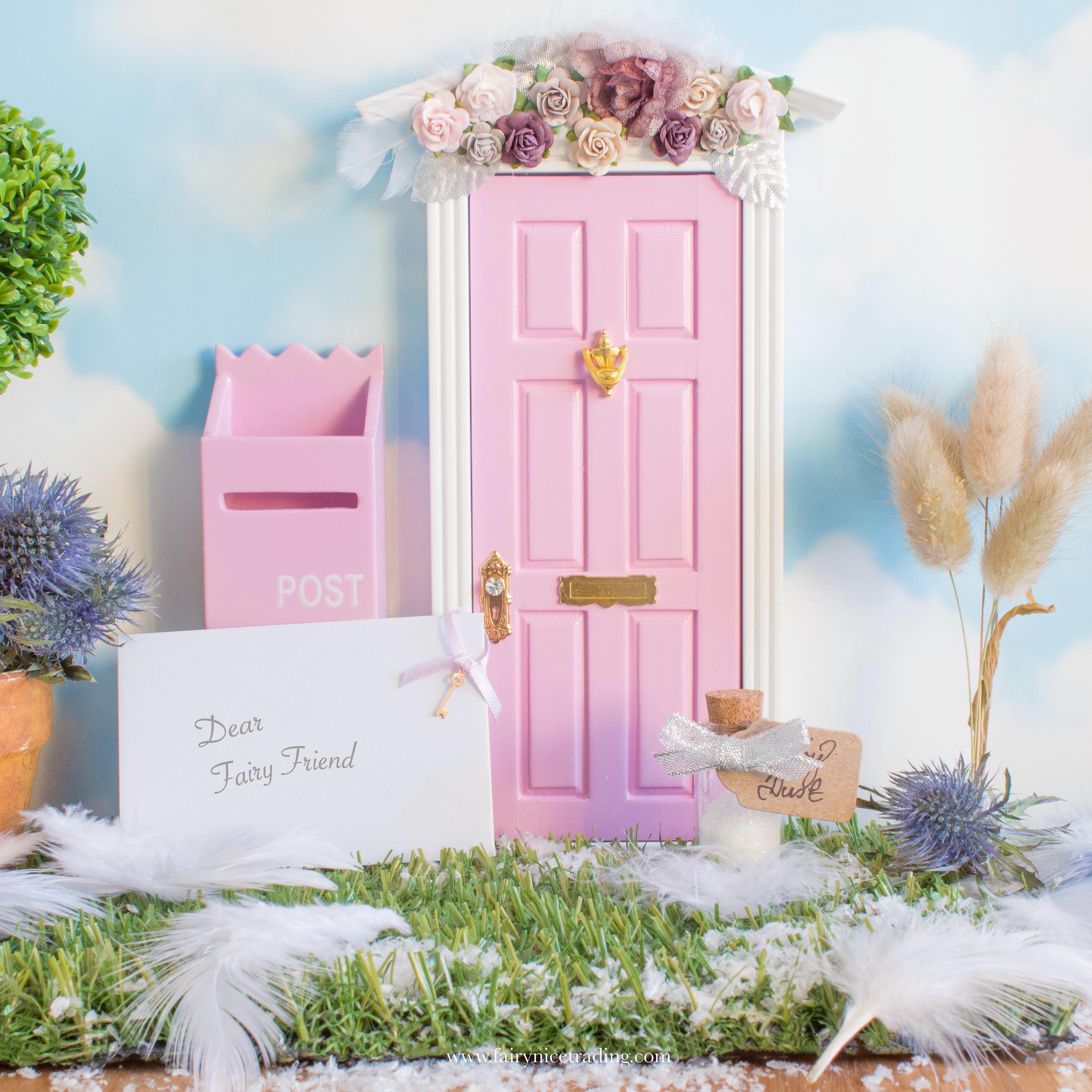Winter pink Fairy Door uk