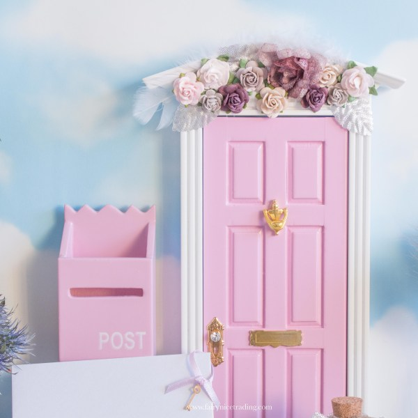 pink christmas fairy door uk