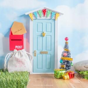 blue christmas fairy door set uk