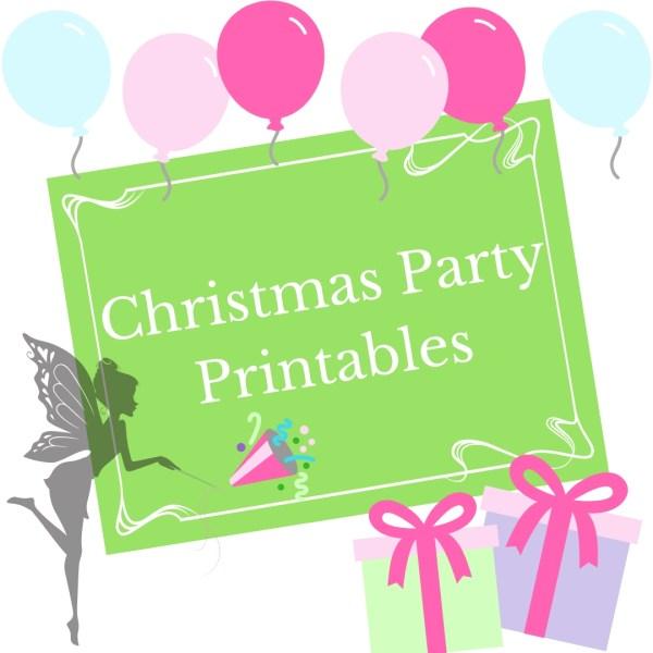 Fairy Christmas party printables
