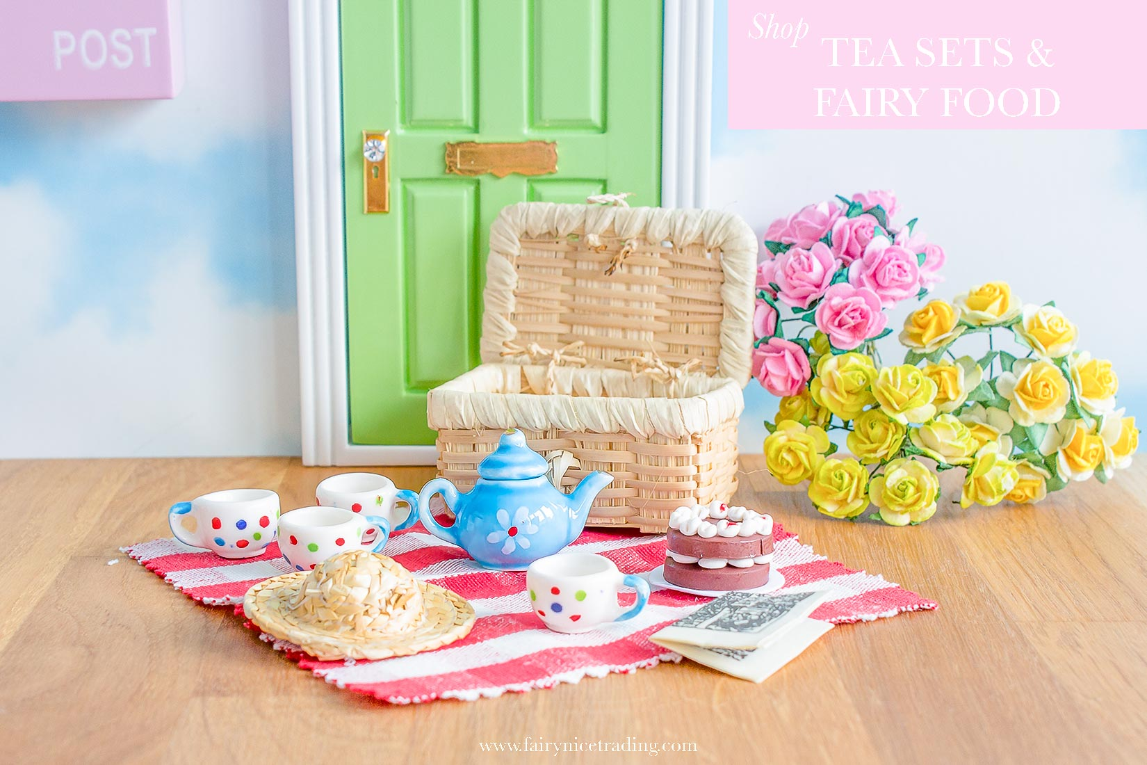 fairy tea sets and fairy food