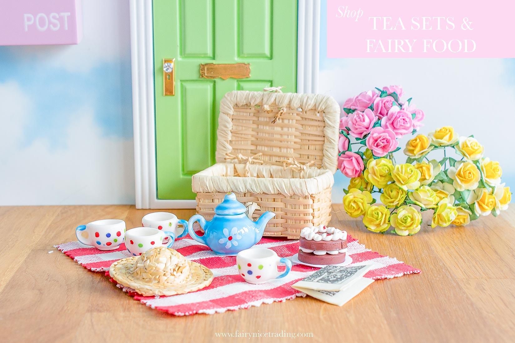fairy tea sets and fairy food