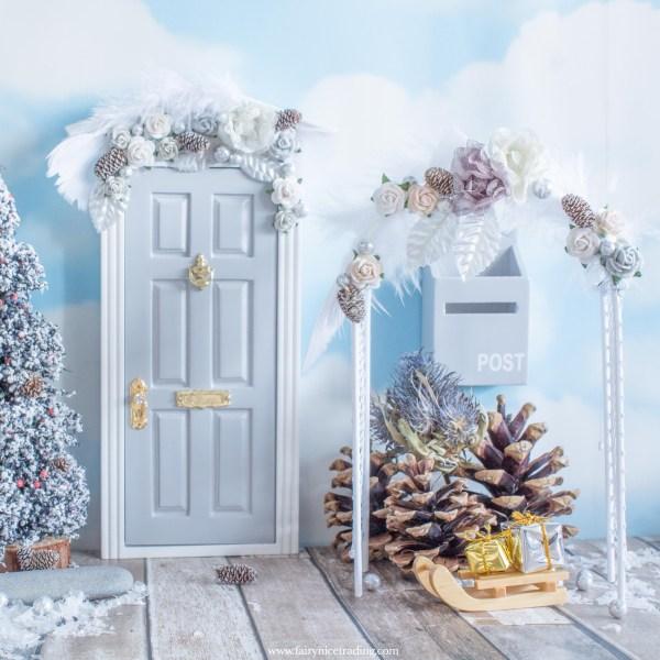 fairy door flower arch