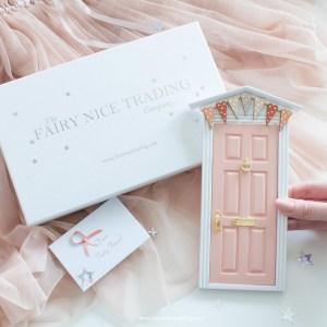 personalised fairy door in blush pink