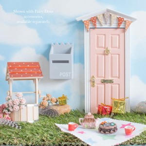 bunting fairy door blush pink