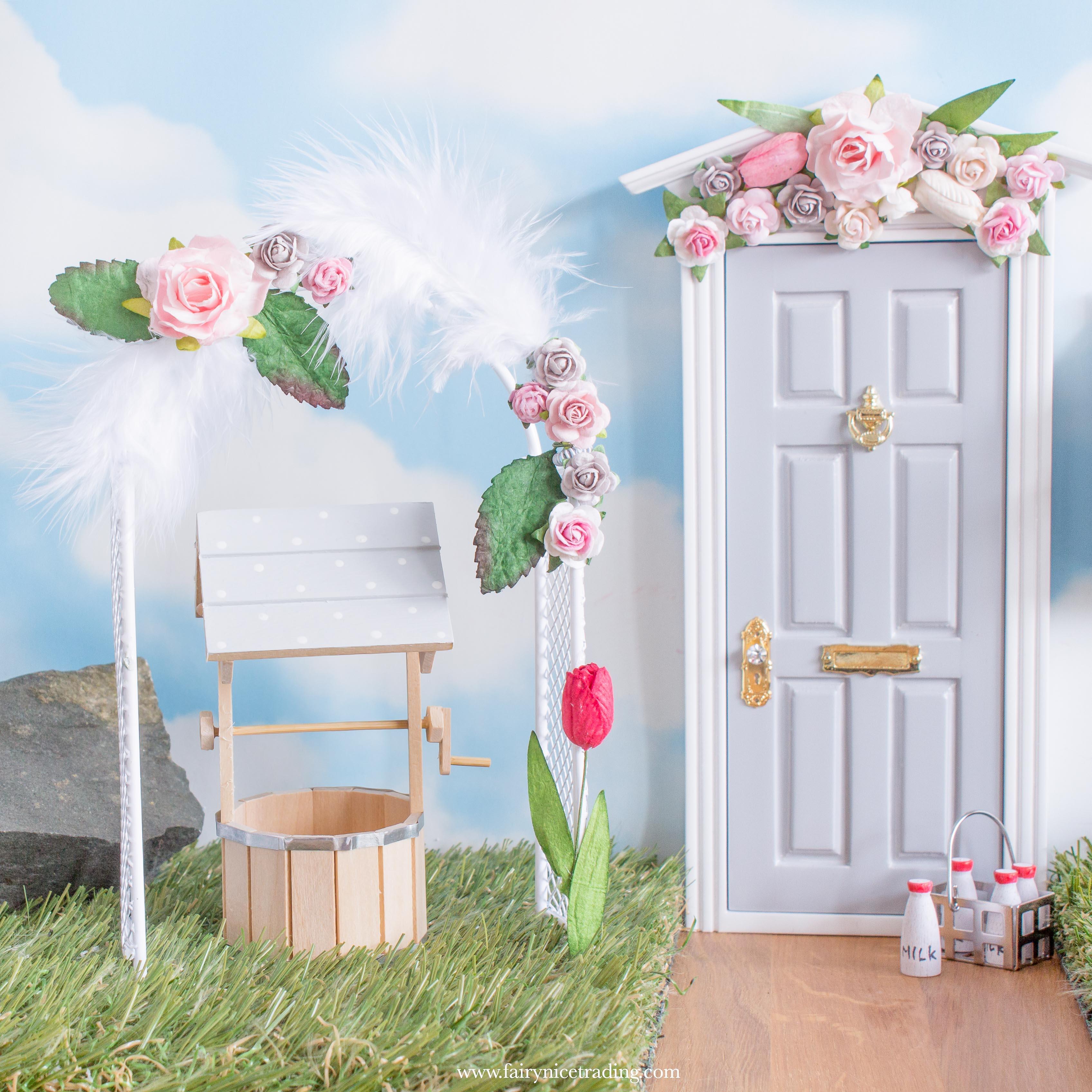 Spring Fairy Garden flower arch