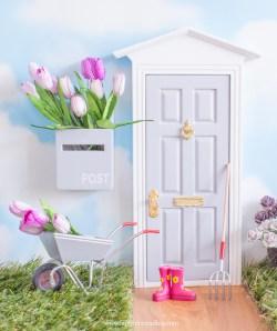 personalised grey fairy door UK
