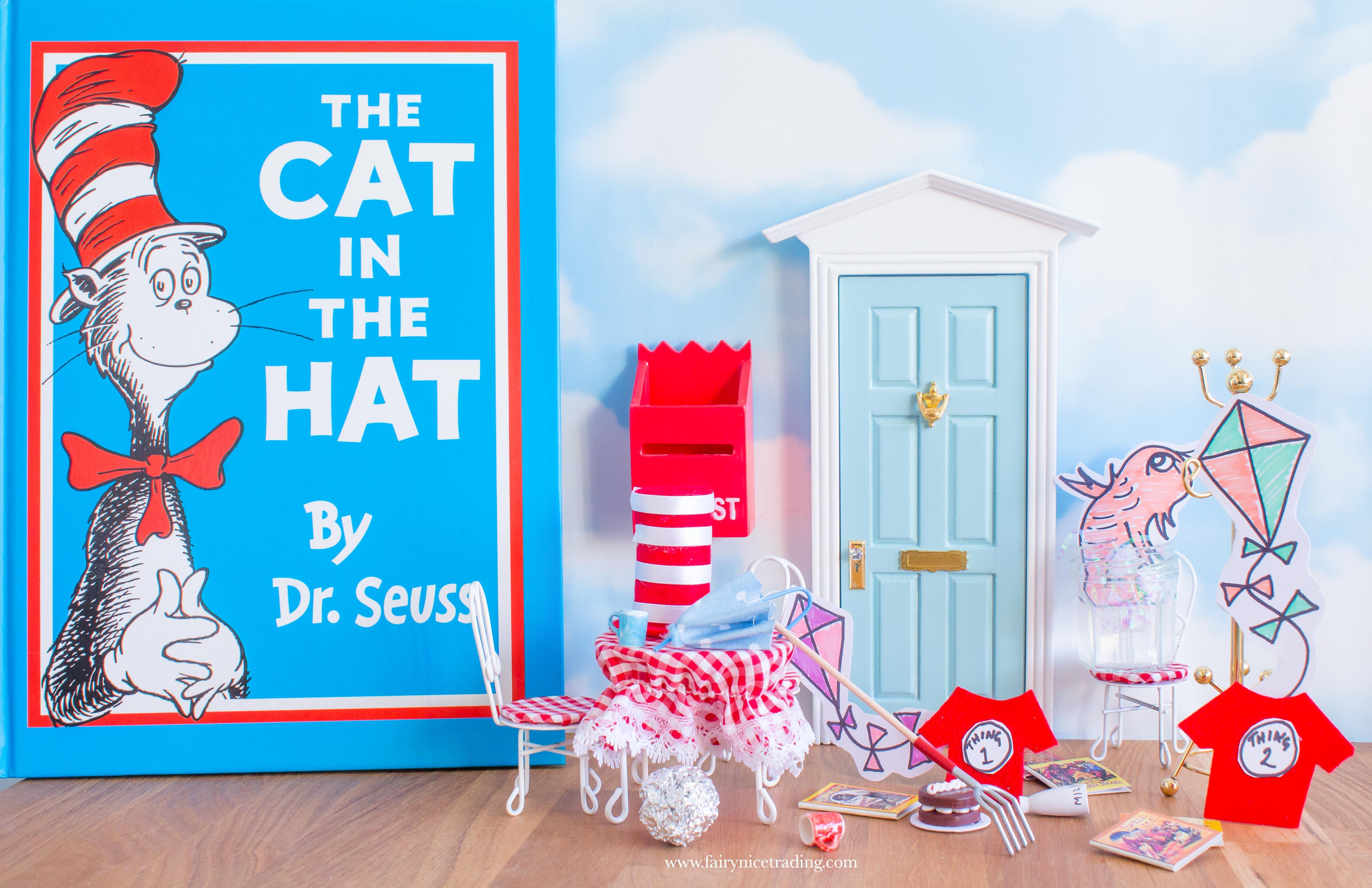 The cat in the hat fairy door scene