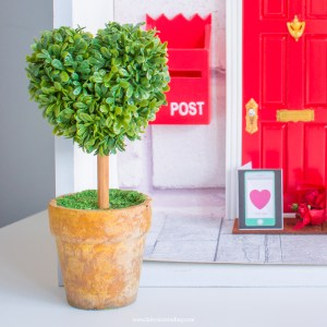 miniature heart tree for fairy doors