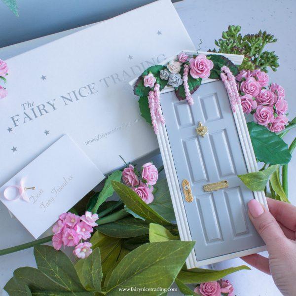 wisteria wishes fairy door in grey