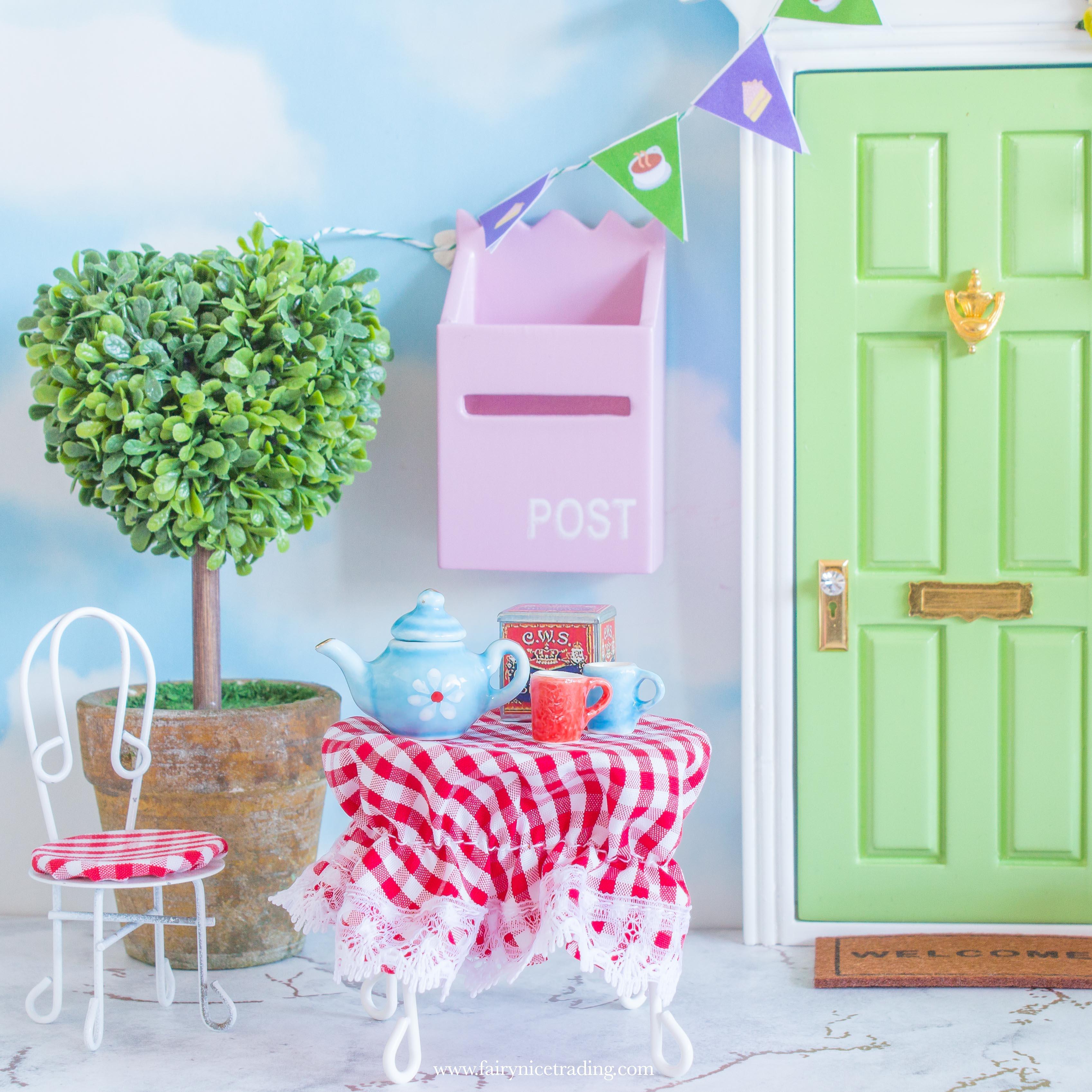 fairy tea set for fairy doors