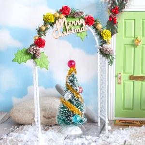 christmas fairy garden flower arch