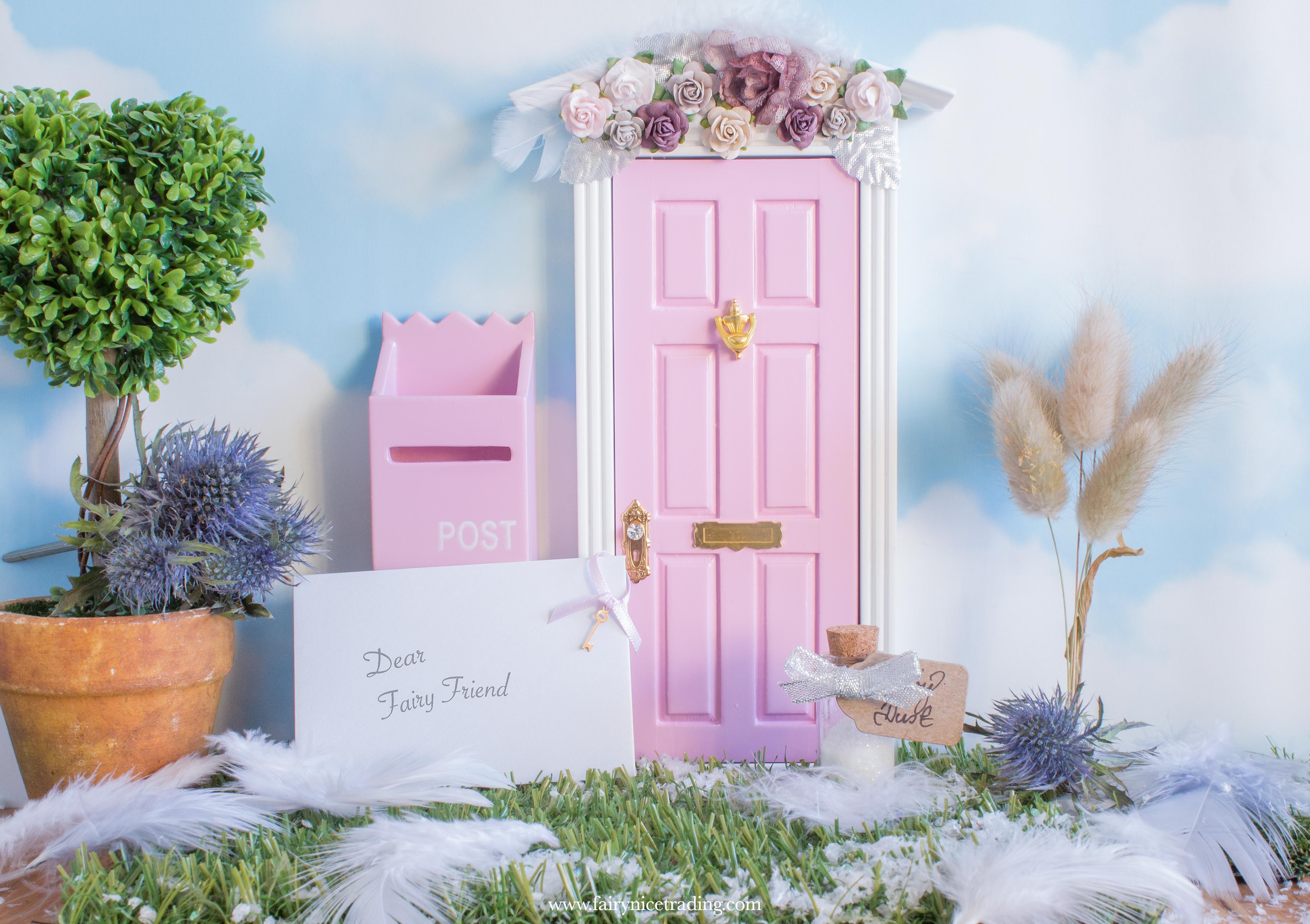 pink christmas fairy doors
