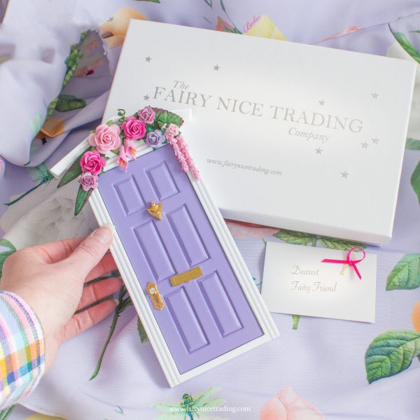 summer purple fairy door