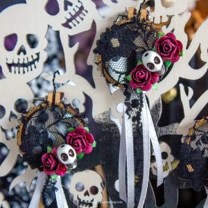 miniature halloween dreamcatcher