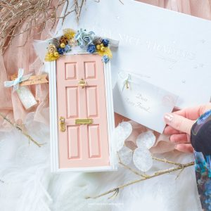 winter blush fairy door