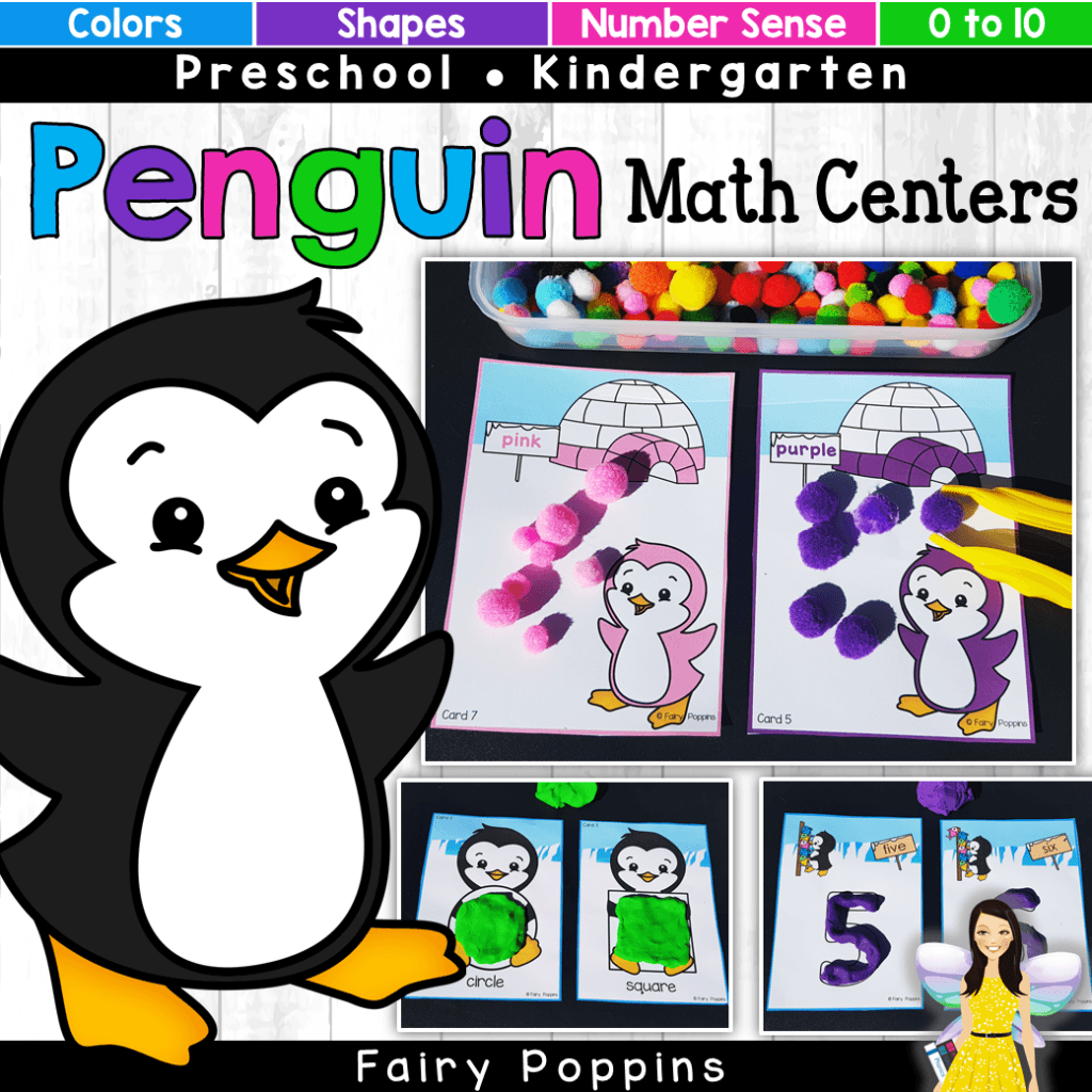 Penguin Color Clip Cards