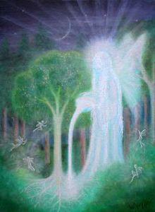 Keeper of the Trees copyright Bernadette Wulf - faery healing