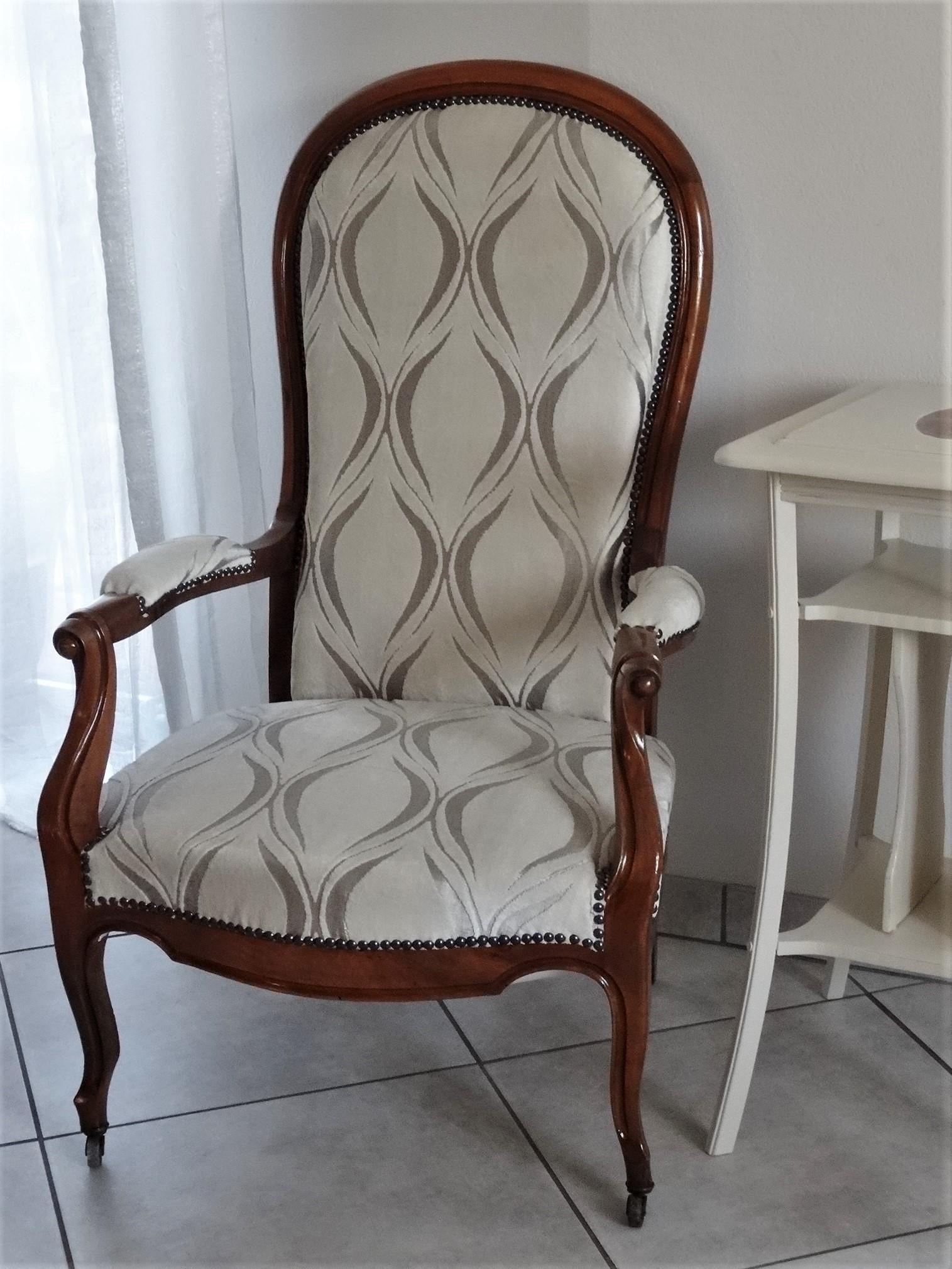 fauteuil voltaire forme violon style louis philippe elisa vendu