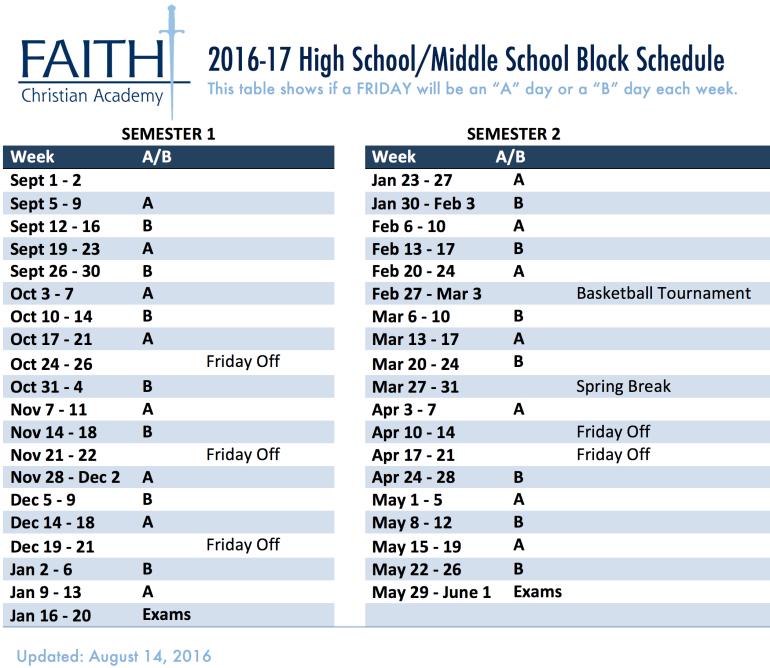 AB Schedule 2016-17