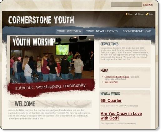 http://youth.mycornerstone.org/