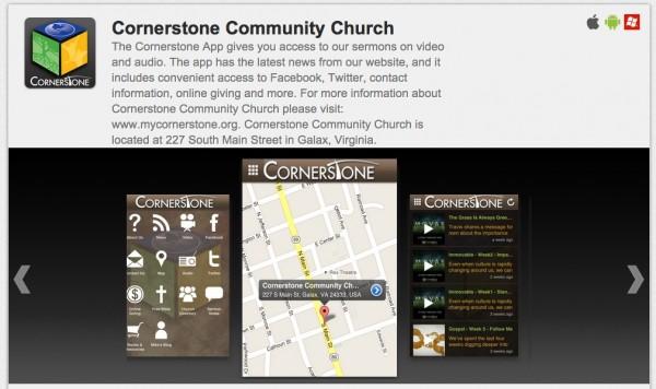 CornerstoneAppScreenshot